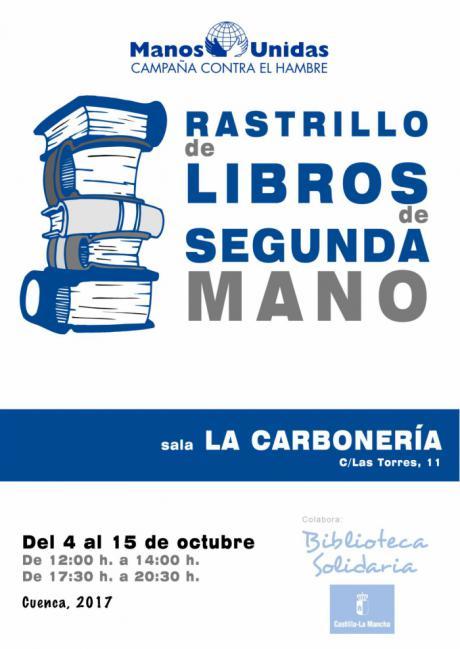Manos Unidas en Cuenca celebra la cuarta edición de su rastrillo de libros de segunda mano