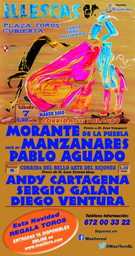 Morante, Manzanares y Aguado, en el Milagro de Illescas