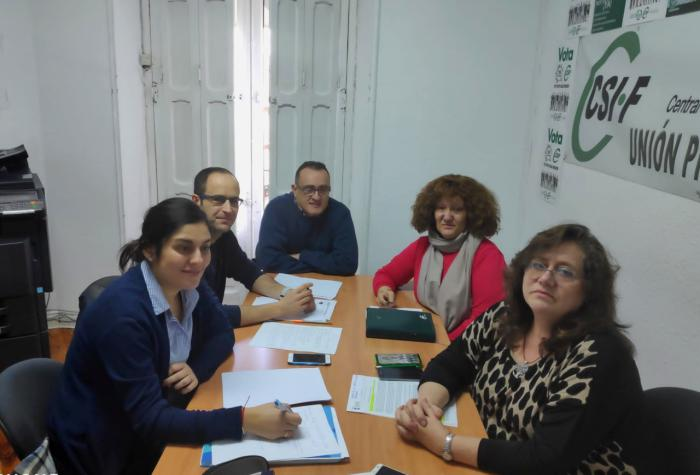 Jiménez escucha las reivindicaciones de CSIF y traslada el compromiso del PP de cumplir el Pacto firmado en 2018 entre Rajoy y los sindicatos