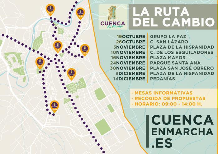 """El programa participativo """"Cuenca, En Marcha!"""" sale a las calles de Cuenca con la Ruta del Cambio"""