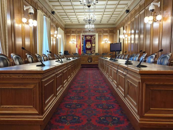 Salón de plenos de la Diputación Provincial