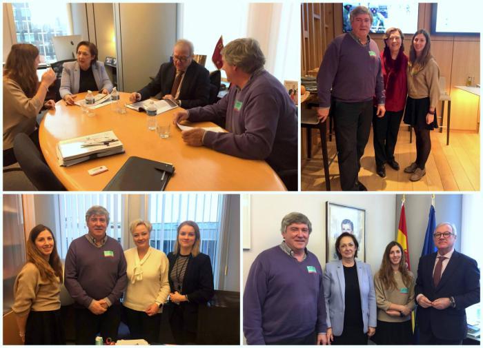 La red SSPA se reúne con el vicepresidente del Parlamento Europeo y europarlamentarios por la despoblación