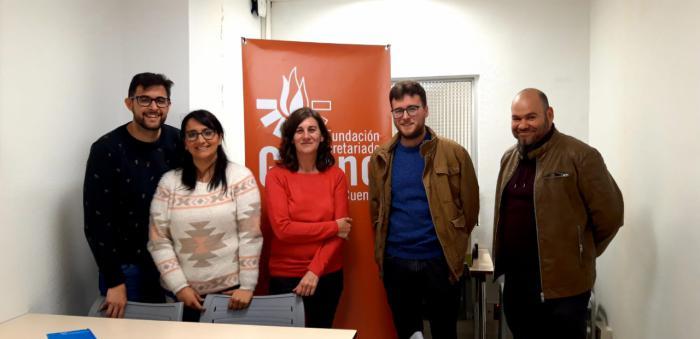 Encuentro de Secretariado Gitano con Pablo García, candidato de Izquierda Unida.