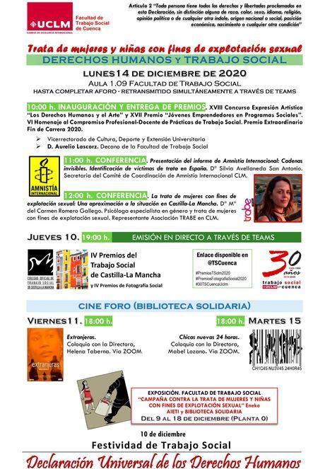 La Facultad de Trabajo Social celebra la Semana de los Derechos Humanos