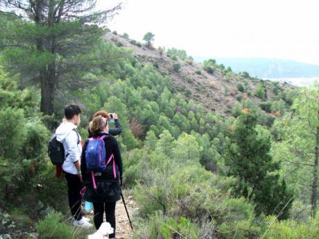 El Campus Diputación de Cuenca de Senderismo 2018 despidió en Priego la temporada de otoño con más de 60 participantes