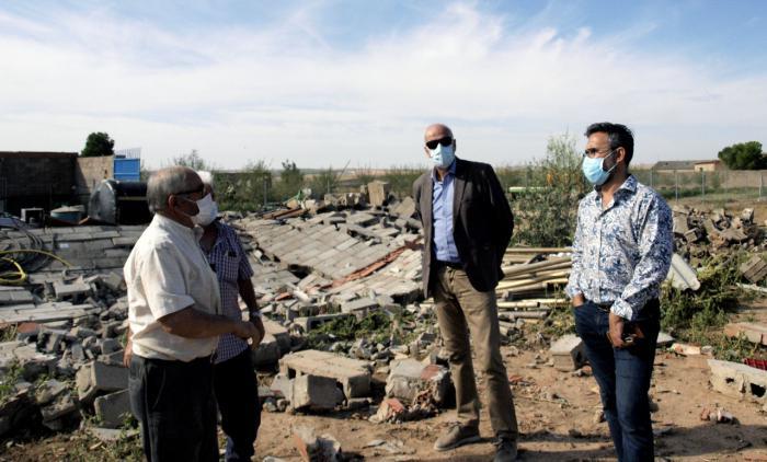 El subdelegado del Gobierno conoce los daños por tormenta en Santa María del Campo Rus