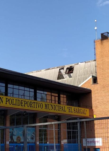Cuenca en Marcha pide el arreglo del techo de El Sargal ante el inicio de las escuelas y competiciones deportivas