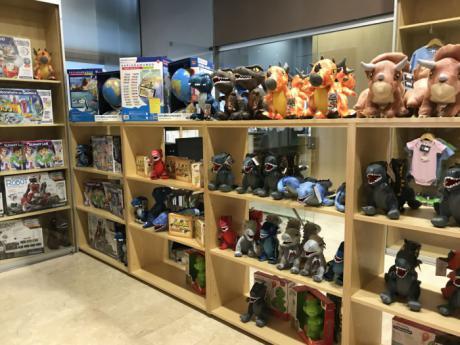 Ya están abiertas al público la tienda de regalos y la cafetería del Museo de Paleontología