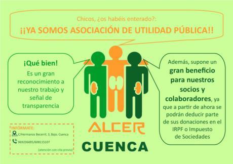 ALCER Cuenca es declarada Asociación de Utilidad Pública