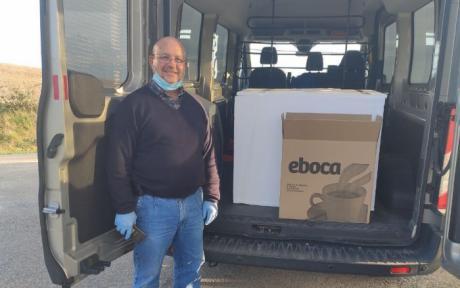 Diputación y Junta repartirán un total de 7.000 viseras que han sido donadas por asociaciones de Huesca