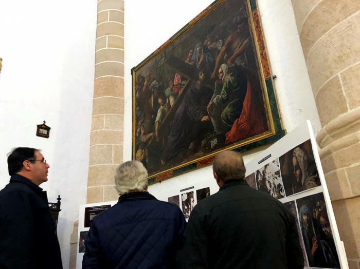 Diputación devuelve a La Ventosa un cuadro del siglo XVII tras su restauración durante más de un año y medio