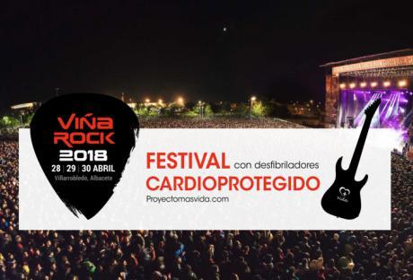 Proyecto+Vida cede desfibriladores para 200.000 personas en el festival Viña Rock 2018