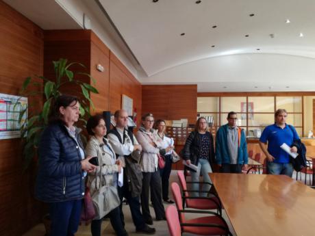 Los alumnos del Taller de Digitalización visitan el Archivo Histórico Provincial y el taller de restauración 'Deltos'