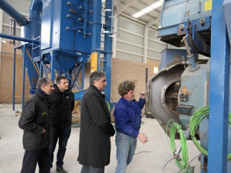 La nueva fábrica de biomasa, en su recta final
