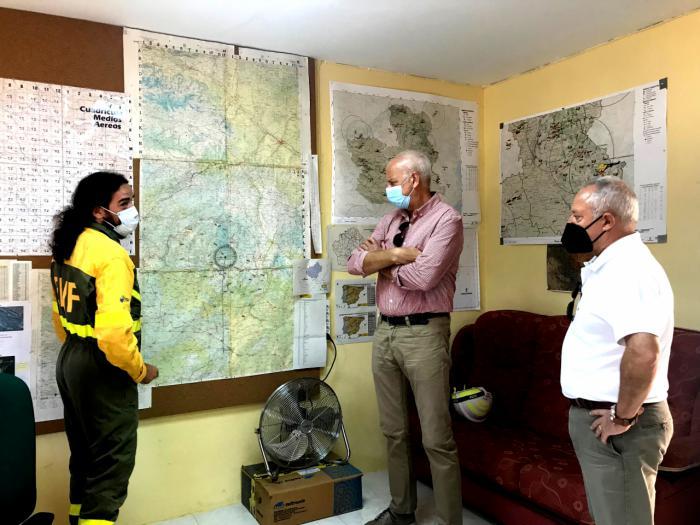 El subdelegado del Gobierno visita la BRIF Prado de Los Esquiladores