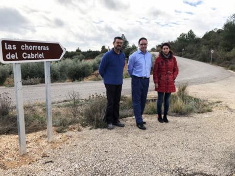 Diputación acondiciona el camino de acceso a Las Chorreras desde Víllora con una inversión de 73.000 euros