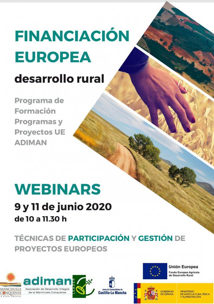 ADIMAN organiza dos seminarios online sobre técnicas de participación y gestión de proyectos europeos