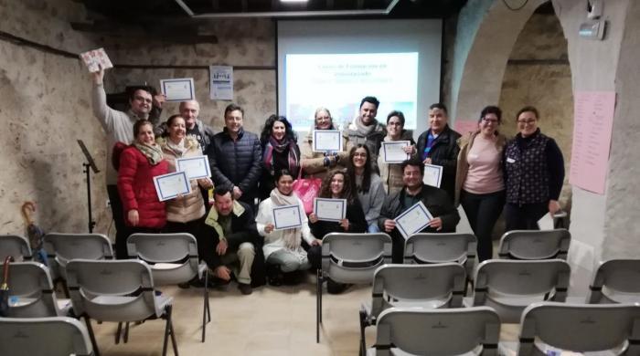 Entrega de diplomas del Curso básico de formación de voluntariado en Mota del Cuervo