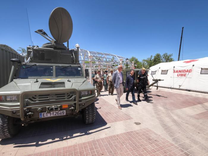 La Unidad Militar de Emergencias muestra sus efectivos en Tarancón