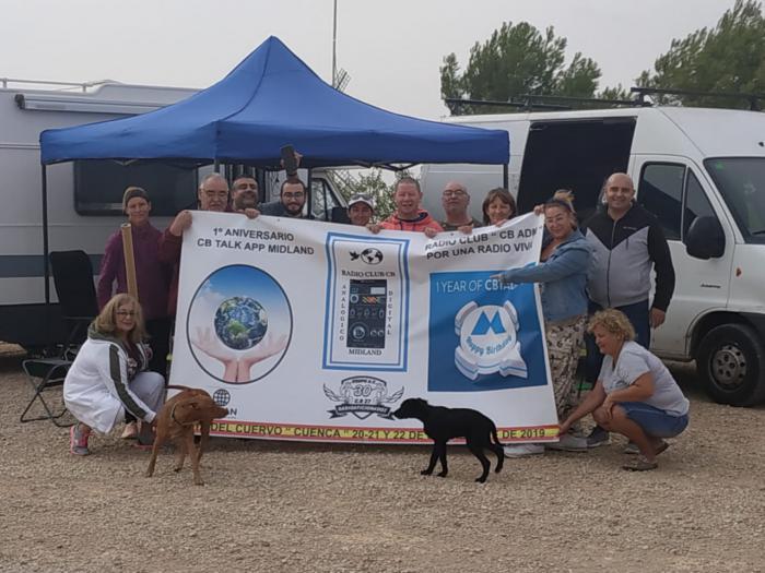 Mota del Cuervo acoge la I Quedad Internacional de radioaficionados Midland con una acampada en la Sierra de los Molinos