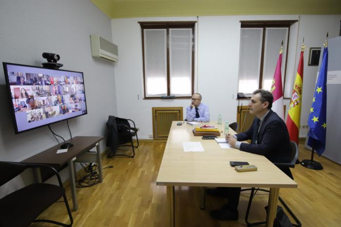 El delegado del Gobierno de España en Castilla-La Mancha ha participado en la reunión del Comité Estatal de Coordinación de Protección Civil