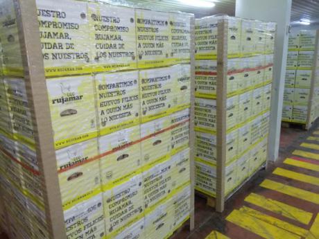 Rujamar dona más de 600.000 huevos a distintos bancos de alimentos de todo el país