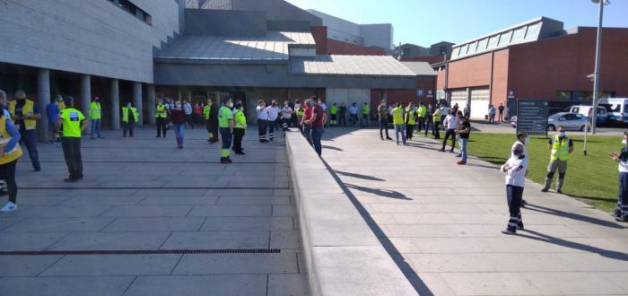 Amplio seguimiento de los paros en la primera de las 24 jornadas de huelga del Transporte Sanitario de la región