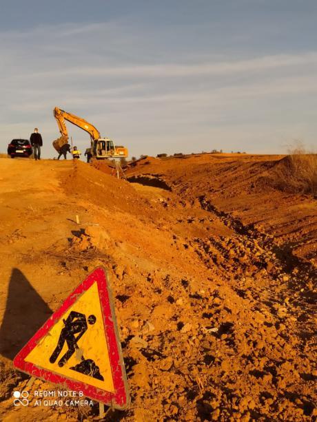 Se inician las obras de mejora del drenaje en la AP-36 a la altura de Mota del Cuervo
