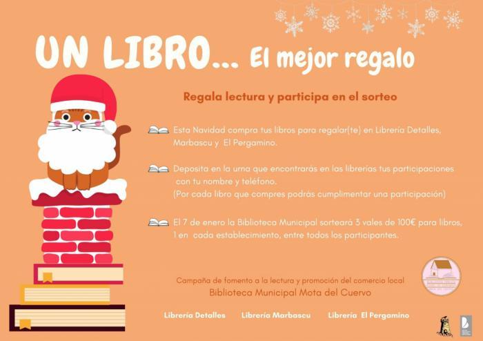 La Biblioteca de Mota del Cuervo sortea 300€ para adquirir libros en las librerías de la localidad