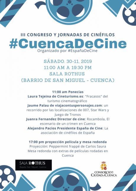 Este sábado se celebra el III Congreso y Jornadas #CuencaDeCine