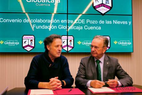 La Fundación Globalcaja Cuenca, con el equipo femenino CD Pozo de las Nieves