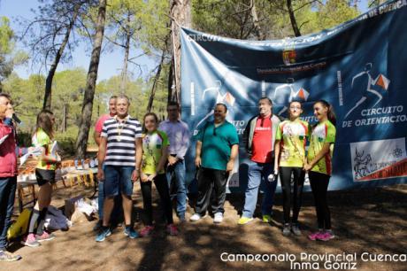 Manuel Díaz e Ylenia Poveda se hicieron con el Campeonato Provincial de Orientación en Motilla