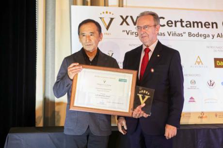 El presidente de Globalcaja en la entrega de los premios del certamen cultural Cooperativa Virgen de las Viñas