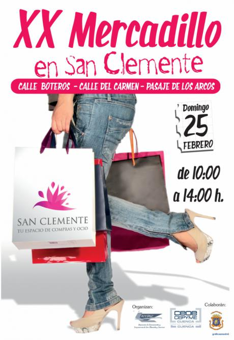El mercadillo del comercio de San Clemente cumple veinte ediciones el domingo con grandes ofertas