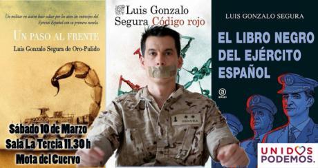 Unidos Podemos presenta el libro del Teniente Segura en Mota del Cuervo