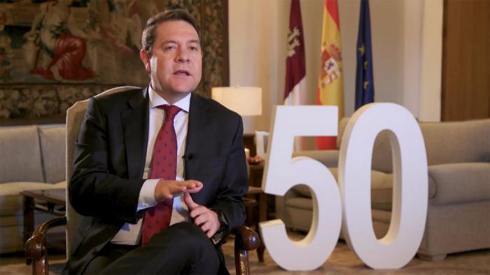 """García-Page valora """"la serenidad, la distancia justa con los problemas y, sobre todo, la cercanía"""" del Rey Felipe VI"""