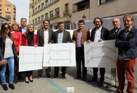 """Serrano afirma que gracias a las obras del proceso de peatonalización del centro de Albacete """"seremos una ciudad más transitable y accesible"""""""