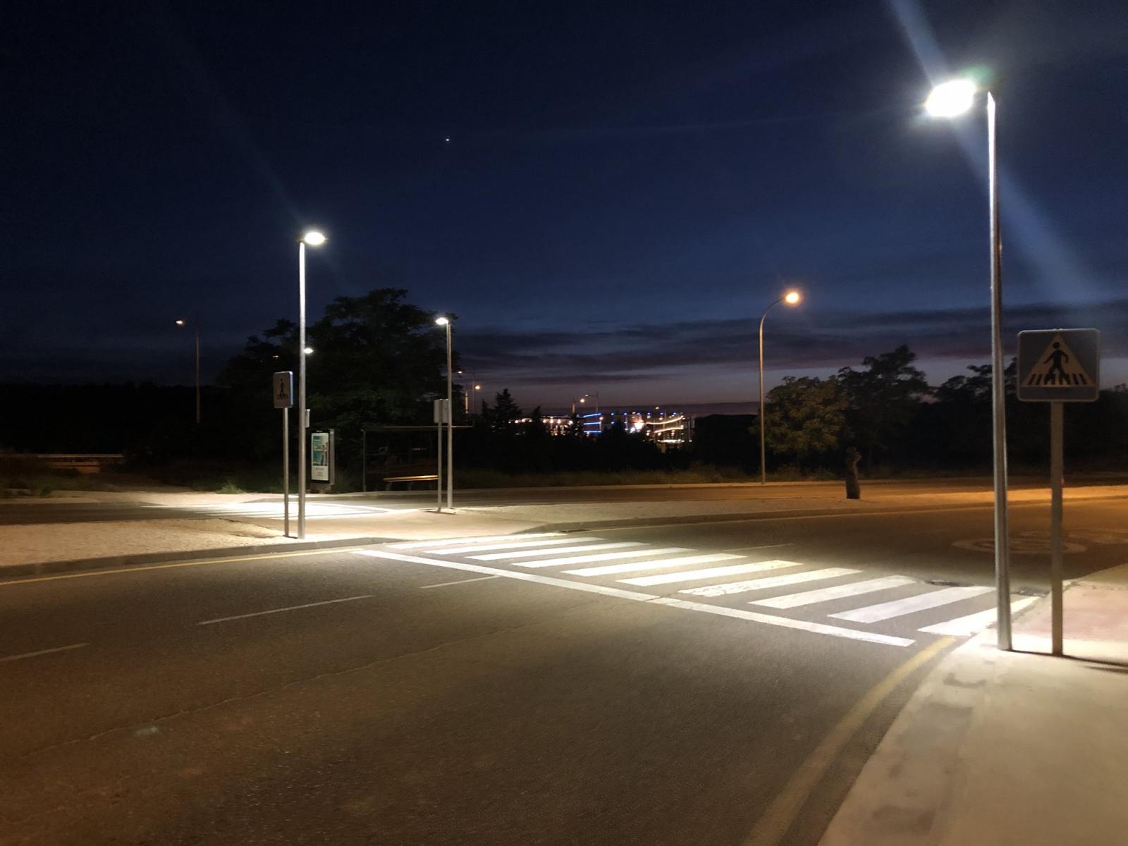 El Ayuntamiento de Toledo completa el alumbrado de Río Arlés e incorpora un novedoso sistema de iluminación en los pasos de peatones