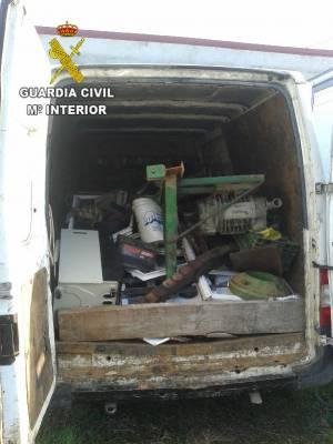 Detenida a una persona por la comisión de cinco delitos en varias explotaciones agrarias de la Mancha Conquense