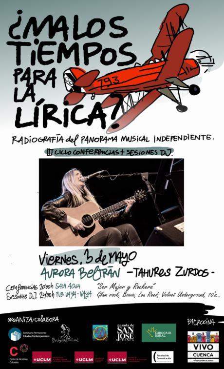 Aurora Beltrán participa este viernes el en ciclo ¿Malos tiempos para la Lírica? Radiografía del panorama musical independiente