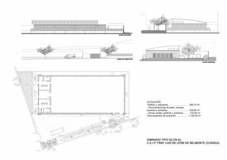 Licitadas las obra de construcción de un gimnasio en el Colegio Fray Luis de León de Belmonte