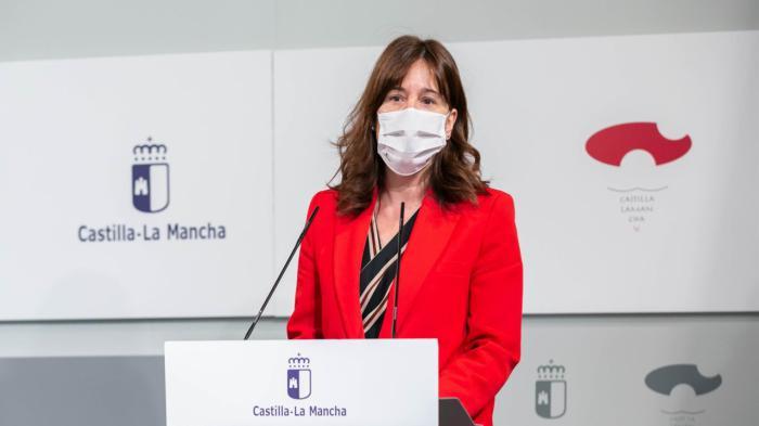 Blanca Fernández, en rueda de prensa.