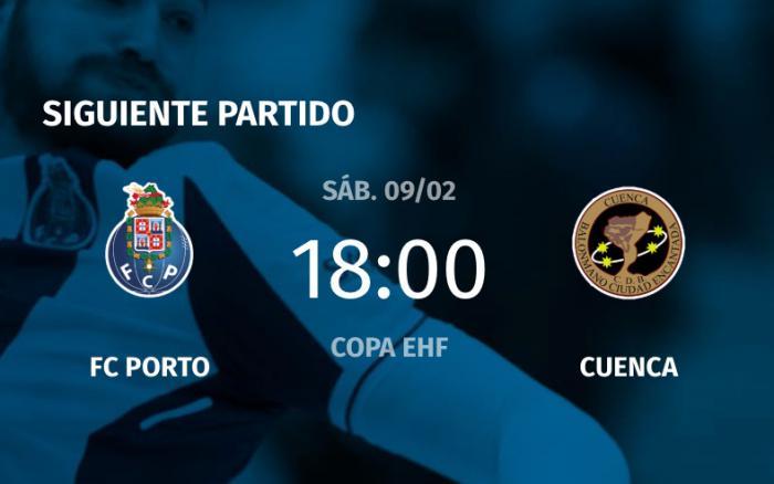 Estreno histórico del Liberbank Cuenca en la Copa EHF en Oporto