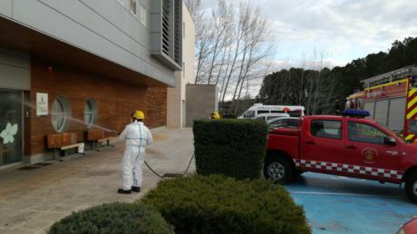 Los bomberos continúan desinfectando residencias de mayores y centros de personas con discapacidad