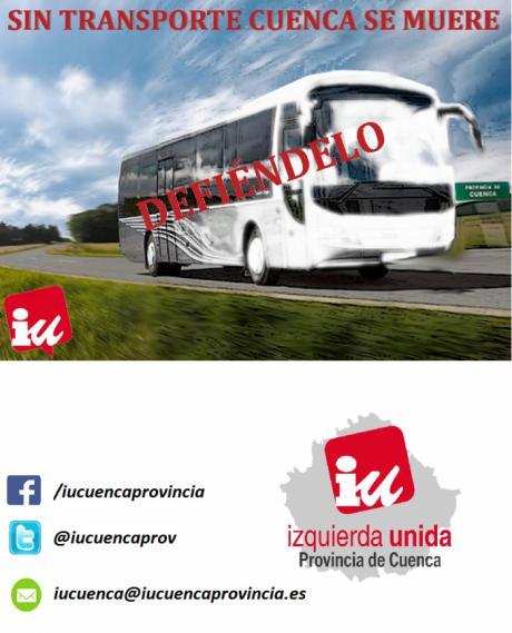 IU denuncia un nuevo aviso de cierre de rutas y paradas de autobús