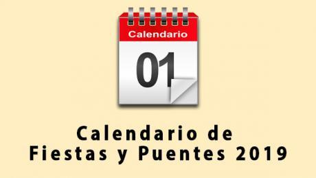 Sale a información pública el calendario laboral para el año 2019 que cuenta con 12 fiestas laborales