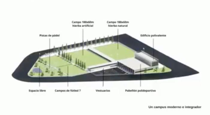 """La primera fase del """"Campus Deportivo Sport Player"""" estará lista en 2023"""