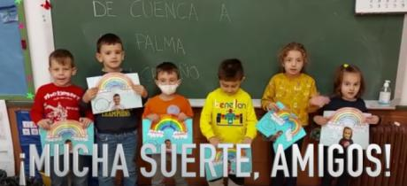 El colegio de Santa Ana muestra su apoyo a «La Palma» con un audiovisual