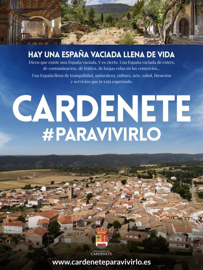 Cardenete lanza una página web para promocionarse como un lugar ideal para vivir