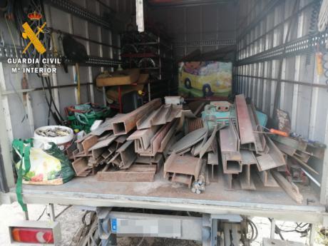 La Guardia Civil ha detenido a una persona por robar material valorado en 25.000 € durante el confinamiento